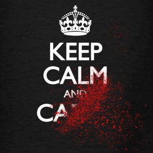 keep calm and carry on blood spatter zombie Bags & backpacks - Men's T-Shirt