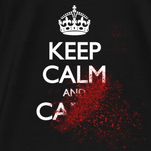 keep calm and carry on blood spatter zombie Bags & backpacks - Men's Premium T-Shirt