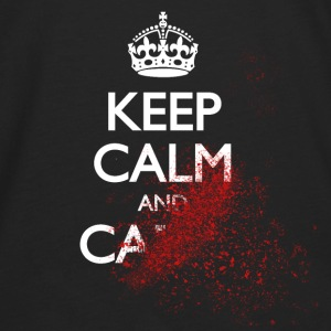 keep calm and carry on blood spatter zombie Bags & backpacks - Men's Premium Long Sleeve T-Shirt