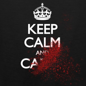 keep calm and carry on blood spatter zombie Bags & backpacks - Men's Premium Tank