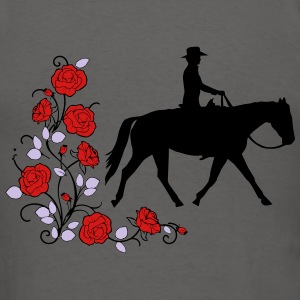 Pleasure Rider with roses - Men's T-Shirt