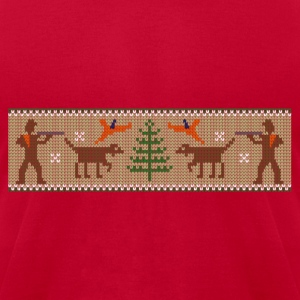 xmas_bird_hunter Sweatshirts - Men's T-Shirt by American Apparel