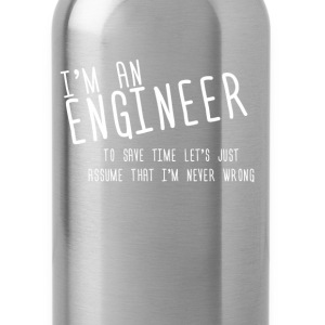 i'm an enginer - Water Bottle