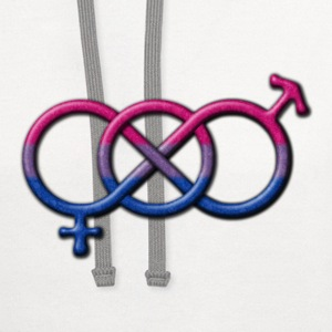 Gender Knot Symbol- Bisexual Pride Flag Long Sleeve Shirts - Contrast Hoodie