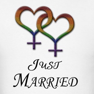 Just Married - Lesbian Pride - Marriage Equality Hoodies - Men's T-Shirt