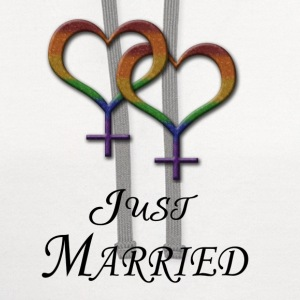 Just Married - Lesbian Pride - Marriage Equality T-Shirts - Contrast Hoodie