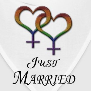Just Married - Lesbian Pride - Marriage Equality T-Shirts - Bandana