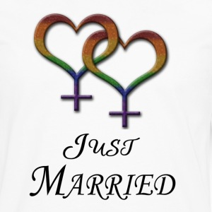 Just Married - Lesbian Pride - Marriage Equality T-Shirts - Men's Premium Long Sleeve T-Shirt