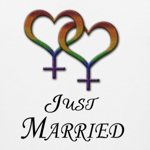 Just Married - Lesbian Pride - Marriage Equality T-Shirts - Men's Premium Tank