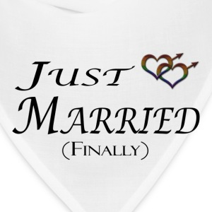Just married (Finally), Gay pride, with heart shap Long Sleeve Shirts - Bandana