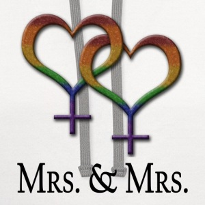 Mrs. and Mrs. - Lesbian Pride - Marriage Equality  - Contrast Hoodie