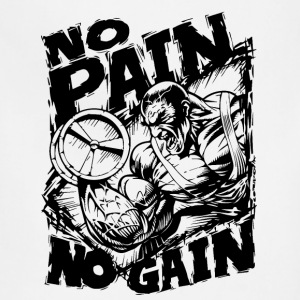 Funny Gym Shirt - No Pain No Gain T-Shirts - Adjustable Apron
