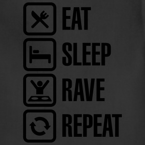 Eat sleep rave repeat T-Shirts - Adjustable Apron