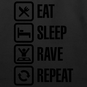 Eat sleep rave repeat T-Shirts - Eco-Friendly Cotton Tote