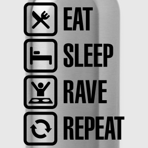 Eat sleep rave repeat T-Shirts - Water Bottle