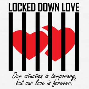 Locked Down Love - Black/Red Mugs & Drinkware - Men's T-Shirt