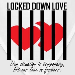 Locked Down Love - Black/Red Mugs & Drinkware - Bandana