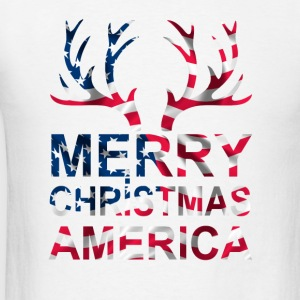 merry christmas america Long Sleeve Shirts - Men's T-Shirt