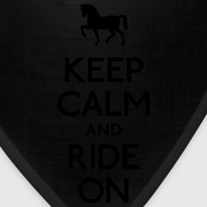 keep calm and ride on Women's T-Shirts - Bandana
