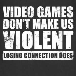 video_games_dont_make_us_violent T-Shirts - Adjustable Apron
