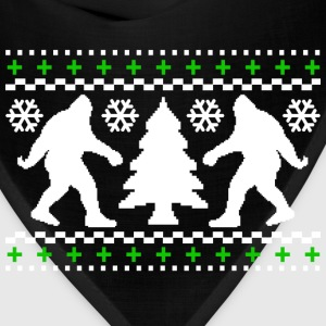 Ugly Holiday Bigfoot Christmas Sweater - Bandana