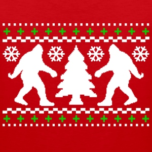 Ugly Holiday Bigfoot Christmas Sweater - Men's Premium Tank