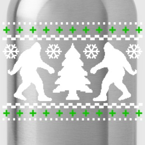 Ugly Holiday Bigfoot Christmas Sweater - Water Bottle
