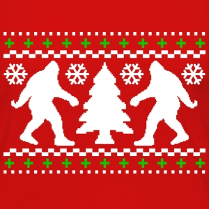 Ugly Holiday Bigfoot Christmas Sweater - Women's Premium Long Sleeve T-Shirt