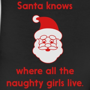 Santa knows where at the naughty girls live T-Shirts - Leggings
