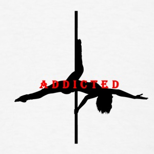 Addicted to Pole Black Women's Fitted Tank - Men's T-Shirt