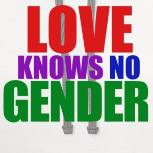 Love knows no gender - Contrast Hoodie