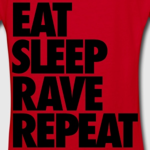 Eat Sleep Rave Repeat Zip Hoodies & Jackets - Women's V-Neck T-Shirt