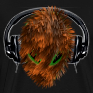 Cute Furry Alien DJ with Headphones - Men's Premium T-Shirt