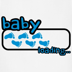 Baby Boy Loading Footprints Logo Women's T-Shirts - Adjustable Apron