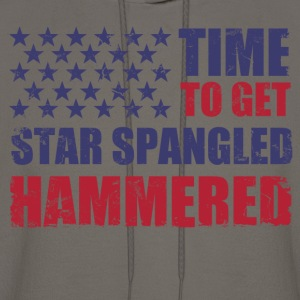 time_to_get_star_spangled_hammered T-Shirts - Men's Hoodie