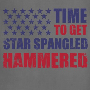 time_to_get_star_spangled_hammered T-Shirts - Adjustable Apron