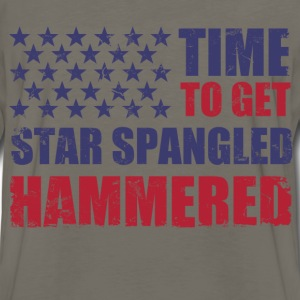 time_to_get_star_spangled_hammered T-Shirts - Men's Premium Long Sleeve T-Shirt