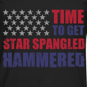 star_spangled_hammered T-Shirts - Men's Premium Long Sleeve T-Shirt