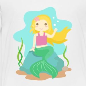 cute little mermaid with blond hair from the ocean Kids' Shirts - Toddler Premium T-Shirt