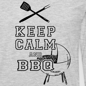 KEEP CALM AND BBQ BARBECUE as Vector T-Shirts - Men's Premium Long Sleeve T-Shirt