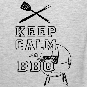 KEEP CALM AND BBQ BARBECUE as Vector T-Shirts - Men's Premium Tank