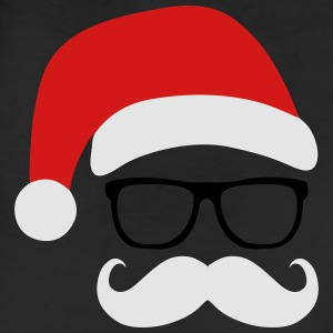 Funny Santa Claus with nerd glasses and mustache Tanks - Leggings