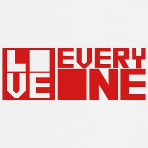 LOVE EVERYONE (red letters) Bottles & Mugs - Men's Premium T-Shirt