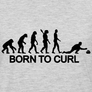 Curling Evolution T-Shirts - Men's Premium Long Sleeve T-Shirt