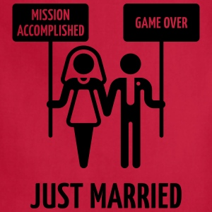Just Married – Mission Accomplished – Game Over Women's T-Shirts - Adjustable Apron