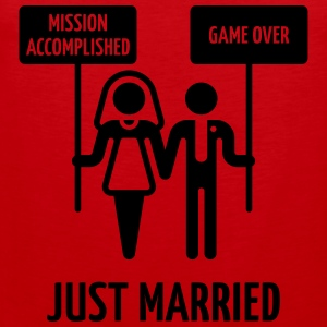 Just Married – Mission Accomplished – Game Over Women's T-Shirts - Men's Premium Tank