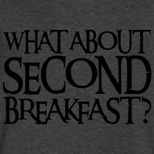 WHAT ABOUT SECOND BREAKFAST? Long Sleeve Shirts - Men's V-Neck T-Shirt by Canvas
