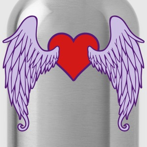 Angel wings - heart T-Shirts - Water Bottle