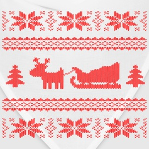 reindeer with sleigh Women's T-Shirts - Bandana