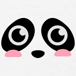 cute panda face with big eyes Caps - Men's T-Shirt